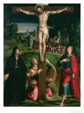 Crucifixion with the Virgin  Mary Magdalene and St John the Evangelist