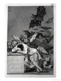 """The Sleep of Reason Produces Monsters  Plate 43 of """"Los Caprichos """" 1799"""
