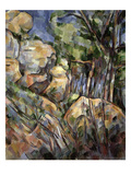 Rocks Near the Caves Below the Chateau Noir  C1904 (Oil on Canvas)