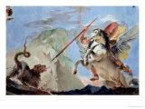 Bellerophon  Riding Pegasus  Slaying the Chimaera (Detail)