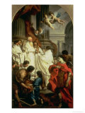 Emperor Valentinian Before Bishop Basil  or the Mass of St Basil  1743-7