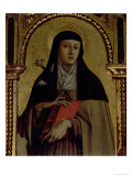 St Clare  Detail from the Santa Lucia Triptych