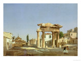 The Gate of Agora in Athens  1843