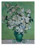 A Vase of Roses  1890 (Oil on Canvas)