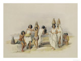 "Nubian Women at Kortie on the Nile  from ""Egypt and Nubia "" Vol1"