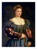 Portrait d'une dame noble, ou la bella œuvre par Titian