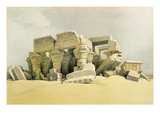 "Ruins of the Temple of Kom Ombo  from ""Egypt and Nubia""  Vol1 (Litho) (See also 84718)"