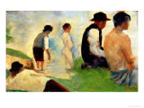 "Five Male Figures  Possible Preparatory Sketch for the ""Bathers at Asnieres "" 1883"
