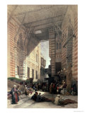 "Bazaar of the Silk Merchants  Cairo  from ""Egypt and Nubia "" Vol3"