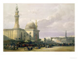 "Mosque of the Sultan Hasan from the Great Square of Rumeyleh  Cairo  from ""Egypt and Nubia "" Vol3"