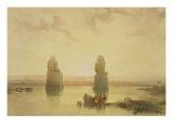 The Colossi of Memnon  at Thebes  During the Inundation  from &quot;Egypt and Nubia &quot; Vol1