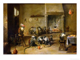 Monkeys in a Kitchen  circa 1645