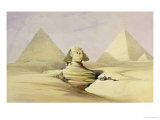 "The Great Sphinx and the Pyramids of Giza  from ""Egypt and Nubia "" Vol1"