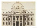 Design for the Ecole Militaire  Paris  1751