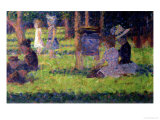 "Study for ""A Sunday Afternoon on the Island of La Grande Jatte "" circa 1884-86"