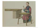 "A Woman Preparing Tea Plate 21 from ""The Costume of China"""