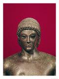 The Apollo of Piombino  Head of the Statue  Found in Benevento  Greek  circa 480 BC