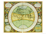 Ancient Hemispheres of the World  Plate 94 from the Celestial Atlas  or the Harmony of the Universe