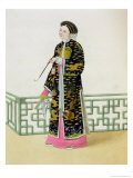 "A Lady of Distinction in Her Habit of Ceremony  Plate 60 from ""The Costume of China"""