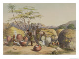 "Gudu's Kraal at the Tugala  Women Making Beer  Plate 26 from ""The Kafirs Illustrated "" 1849"