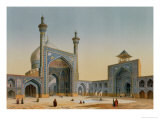 """View of the Courtyard of the Mesdjid-I-Shah  Isfahan  from """"Modern Monuments of Persia"""""""