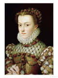 Portrait of Elizabeth of Austria Queen of France  circa 1570