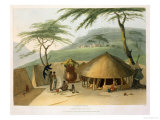"A Boosh-Wannah Hut Plate 7 from ""African Scenery and Animals"""