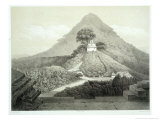 """Picturesque View at the Temple of the Cross  Palenque  Plate 20 from """"Ancient Monuments of Mexico"""""""