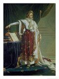 Portrait of Napoleon I in His Coronation Robes  1804
