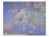 Map of Sixteenth Century Europe  from the Sala Del Mappamondo circa 1574-5