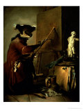 The Monkey Painter  1740