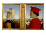 Portraits of Duke Federico Da Montefeltro and Battista Sforza  circa 1465