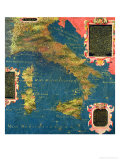 "Map of Sixteenth Century Italy  from the ""Sala Delle Carte Geografiche"""