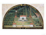 Villa Poggio a Caiano from a Series of Lunettes Depicting Views of the Medici Villas  1599