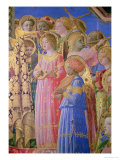 The Coronation of the Virgin  Detail Showing Musical Angels  circa 1430-32