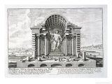 "The Statue of Olympian Zeus by Phidias  Plate 5 from ""Entwurf Einer Historischen Architektur"""