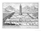 "The Porcelain Tower of Nanking  Plate 12 from ""Entwurf Einer Historischen Architektur"""