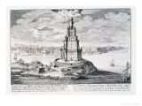 "The Pharos of Alexandria  Plate 9 from ""Entwurf Einer Historischen Architektur"""