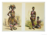 N'Pae a Young Zulu in Gala Dress and Two of King Panda