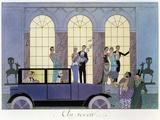 Au Revoir, gravure par Henri Reidel, 1920 (lithographie) Giclée par Georges Barbier