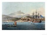 "Porto Praya in the Island of St Jago  Plate 4 from ""A Voyage to Cochinchina"""