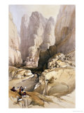 Entrance to Petra  March 10th 1839  Plate 98 from Volume III of &quot;The Holy Land&quot;