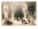 "Crypt of the Holy Sepulchre  Jerusalem  Plate 20 from Volume I of ""The Holy Land"""