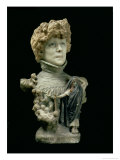 Portrait Bust of Sarah Bernhardt French Actress  circa 1890