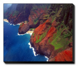 Areal View of Na Pa Li Coast  Kauai  Hawaii