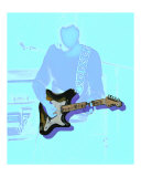 Neon fender strat player- guitar