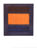 Untitled, Brown and Orange on Maroon Reproduction d'art par Mark Rothko