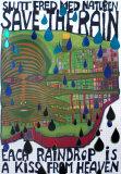 Save the Rain Reproduction d'art par Friedensreich Hundertwasser