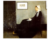 Arrangement in Grey and Black No1: Portrait of the Artist's Mother  c1871