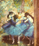 Danseuses en bleu, vers 1895 Reproduction d'art par Edgar Degas